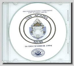 USS Acadia AD 42 Decommissioning Program CD