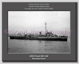 USS Frost DE 144 Personalized Canvas Print
