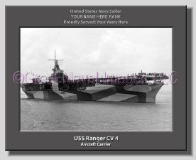 USS Ranger CV 4 Canvas Print